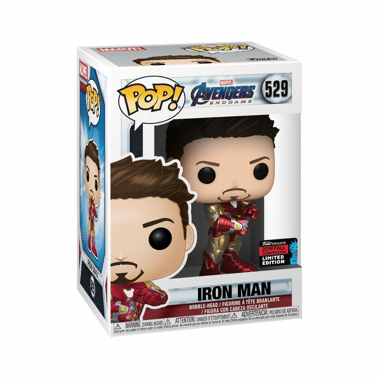 Funko Pop! Marvel Avengers Endgame Iron Man Gauntlet NYCC 20