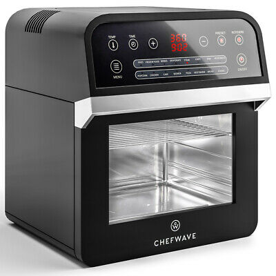 ChefWave 12.6 Quart Air Fryer Oven with Dehydrator and Rotisserie (Black)