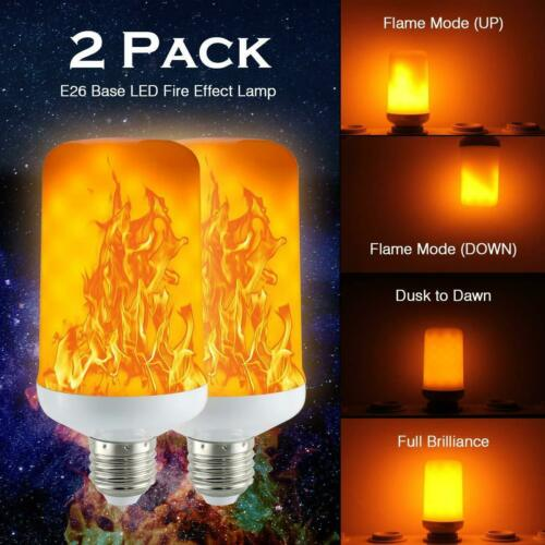 CPPSLEE - LED Flame Effect Light Bulb - 4 Modes with Upside