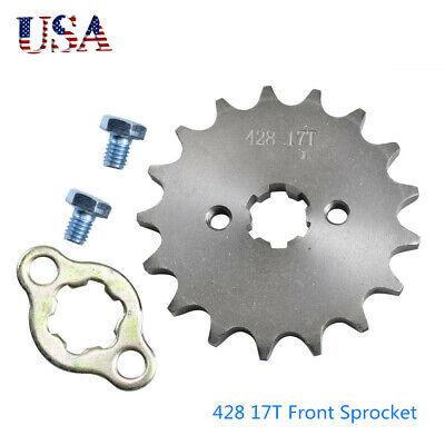 428 17T Front Engine Sprocket Pit Dirt Bike Quad 17 Tooth 17mm Hole 110cc 125cc