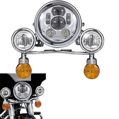 LED Headlight Passing Lights Set For Yamaha Royal Star Venture XVZ1300