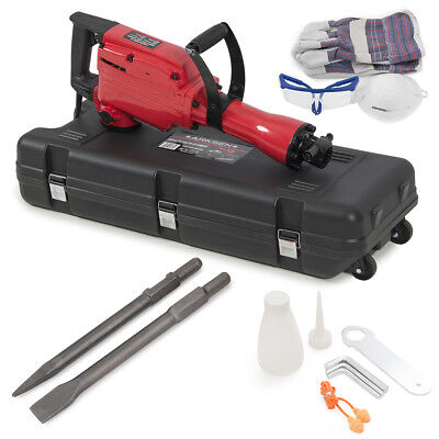 2200w Demolition Jack Hammer Electric Concrete Breaker Punch 2 Chisel Bit Wcase