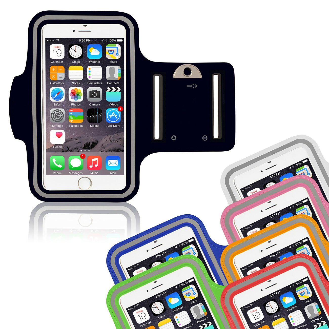 iPhone 6 iPhone 7 - iPhone 8 Sportarmband Fitness Jogging Running Laufhülle Weiß