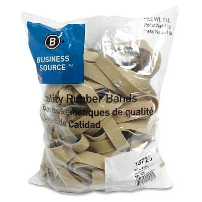 Business Source 15726 Rubber Bands Size 105 1 Lb Bag 5 X 58 Natural Crepe