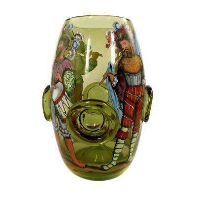 Seltenes Daumenglas mit Personen in historischen Kostümen, - Historische Personen Kostüme