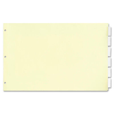"""Stride Legal-Size Index Dividers 5-Clear Tabs/ST 8-1/2""""x14"""" MLA 63200"""