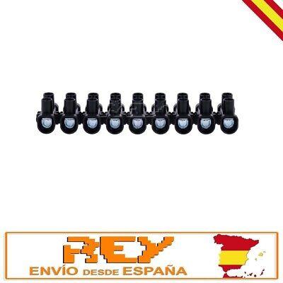 Regleta Empalmes 12 Secciones para Cables de 6mm Conexión Eléctrica 6A v260