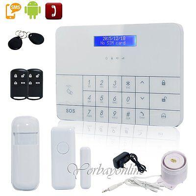 Funk GSM Haus Alarmanlage set Steuerbar per APP, GSM/SMS, Telefon, Fernbedienung