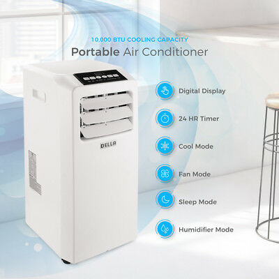 DELLA Air Conditioner Cooling Fan 10000 BTU Portable Dehumid