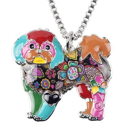 Shih Tzu Pendant - Enamel Alloy Chain Shih Tzu Dog Necklace Pendant Charms Women Animal Jewelry