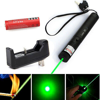 Green Laser Pointer Pen G301 532nm Burning Lazer Visible  Beam +18650 + Charger on Rummage