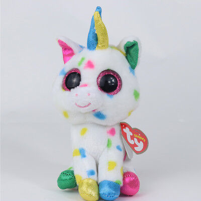 "6""Beanie Boos Glitter Eyes Plush Stuffed Animals Toys Kids Xmas Gift -With tags"