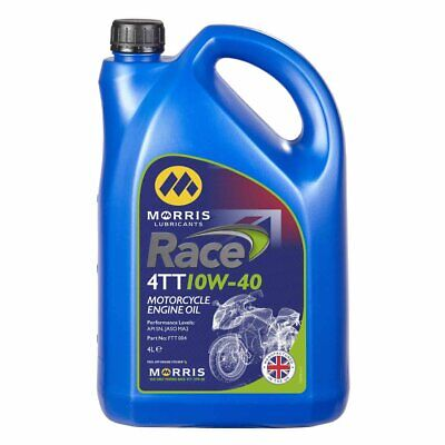Morris Lubricants Race 4 TT, 1 x 4 Litre Fully Synthetic Engine Oil.10W/40  New(