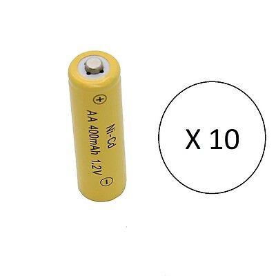 10 - Solar path light batteries AA Ni-Cd 400mAh 1.2v - Brand New Battery
