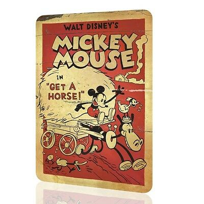 METAL SIGN MICKEY MOUSE Disney Decor Classic Poster Wall Art Home Decor Rusted