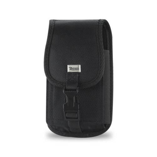 Rugged Black Nylon Metal Clip Locking Case fits CoolPad Snap Flip phone