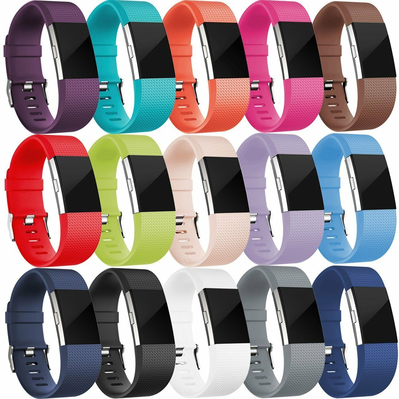 Replacement Silicone Rubber Band Strap Wristband Bracelet For Fitbit CHARGE 2 US