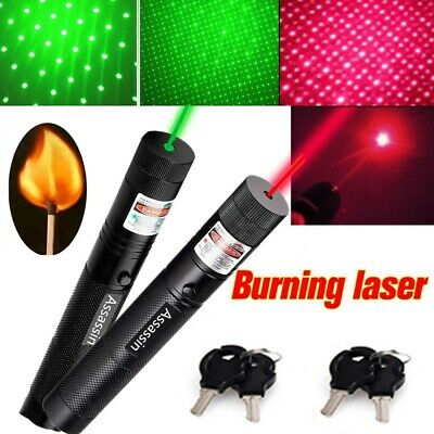 2pc 500miles Green Red Laser Pointer Pen Star Single Point Beam Lazer Torch