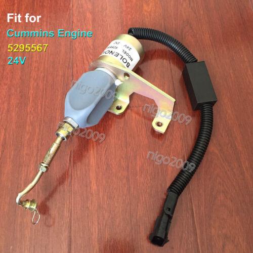 for Cummins 5295567 24V Engine Diesel Fuel Shut Down Shutoff Stop Solenoid Valve