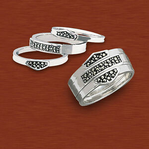 Harley davidson ladies silver stacking ring new for Harley davidson jewelry ebay