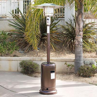 48,000 BTU Hammer Bronze Outdoor Standing Patio Heater Propane LP Gas CSA Listed