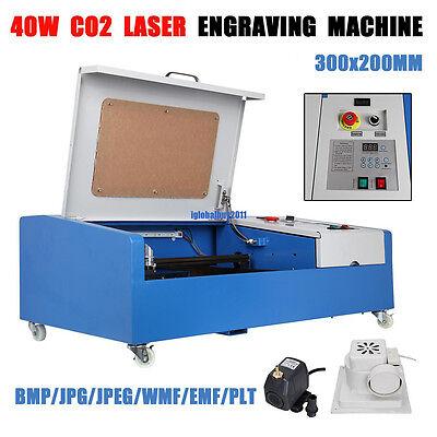 40w Usb Port Co2 Laser Engraving Cutting Machine Engraver Cutter W Wheels