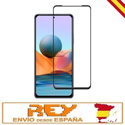 Cristal Templado Completo 3D XIAOMI REDMI NOTE 10 PRO CURVO Negro Premiun...