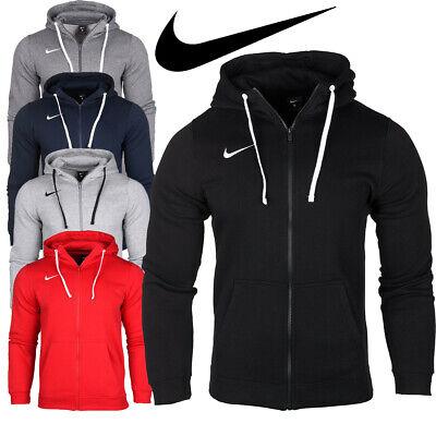 Nike Team Club 19 Mens Jacket Zip Hoodie Sportswear Gym Training Everyday Cotton