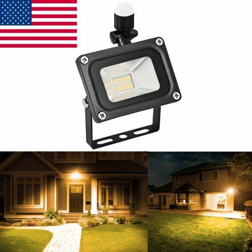 10W Outdoor Motion Sensor Flood Light Waterproof LED Lights