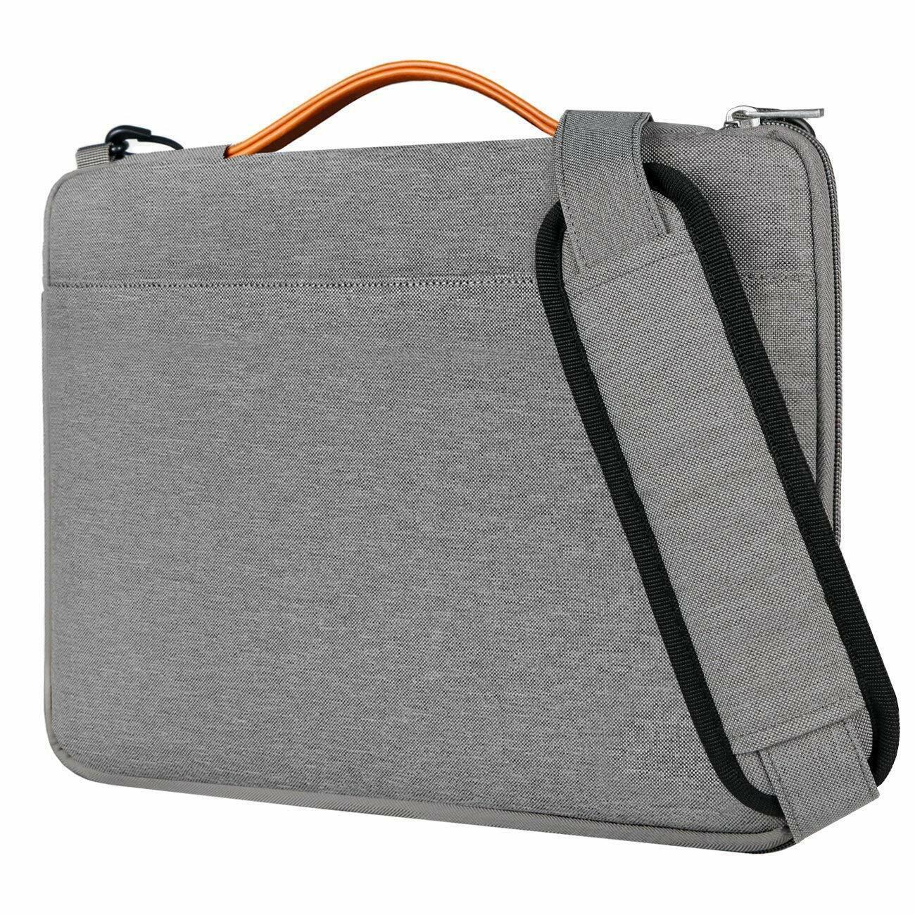 Inateck 15,6 Zoll Laptop Schultertasche, Wasserdichte Laptop Hülle, Grau