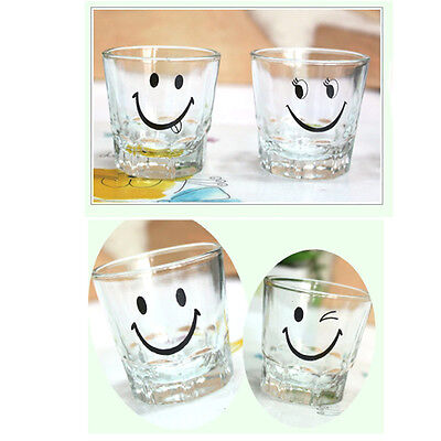 Korean SOJU Shot Glass 4P Set Korea traditional Whiskey Cup barware Smile