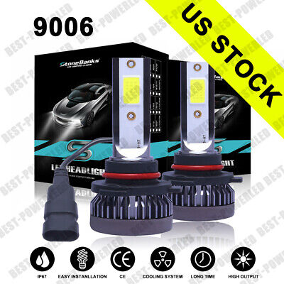 PAIR Mini 9006 HB4 LED Headlight Bulbs Conversion Kit Low Beam 6000K White