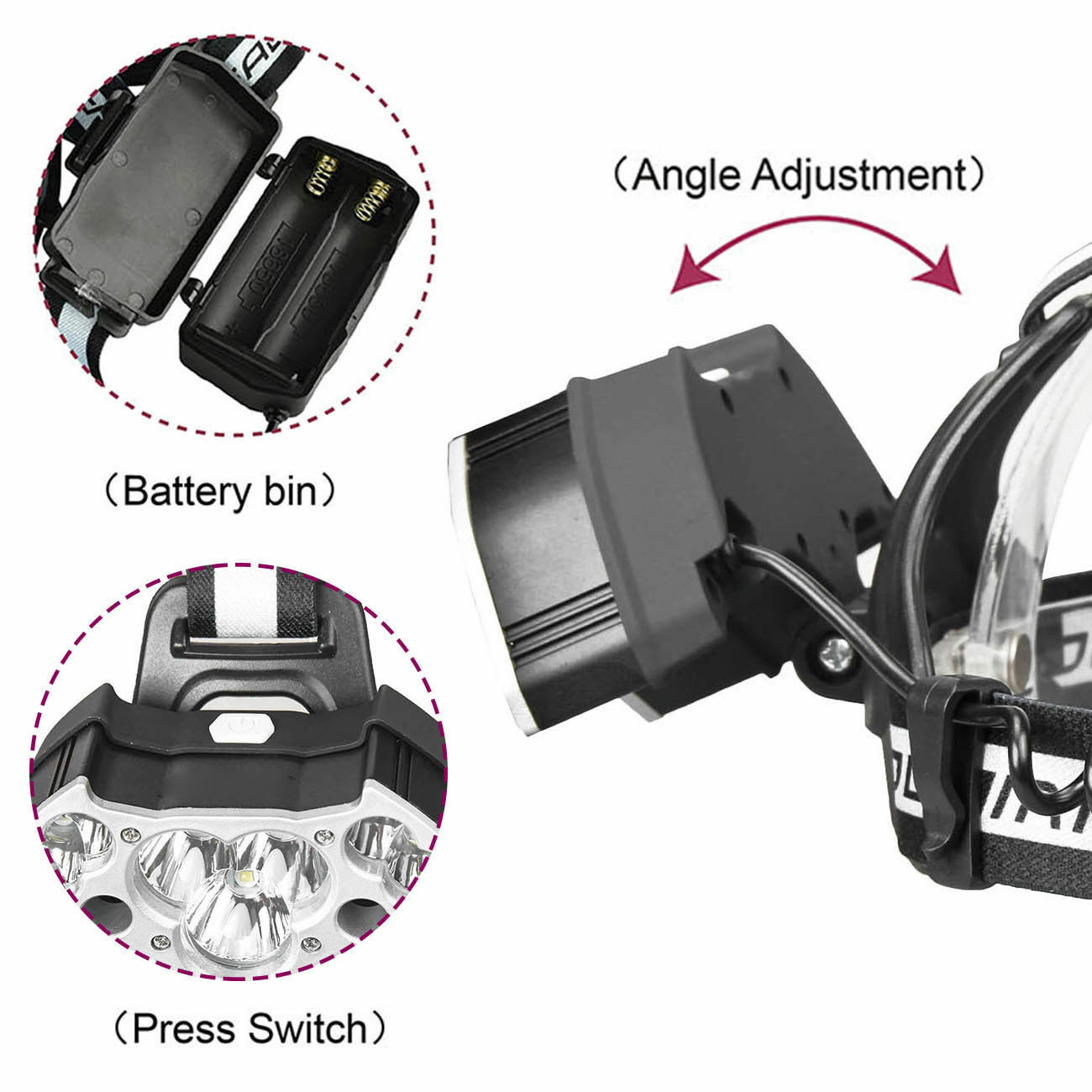 990000LM 11X T6 Rechargeable LED Headlamp Headlight 18650 Flashlight Head Torch Camping & Hiking