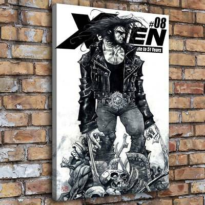 X Men Wolverine Black Home Decor Room HD Canvas Print Picture Wall Art (Wolverine Pictures X-men)