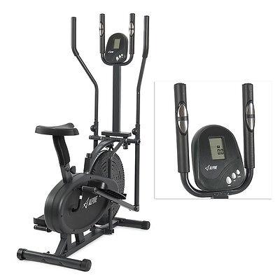 Elliptical Bike 2 IN 1 Cross Trainer Exercise Fitness Machine Upgraded Model NEW