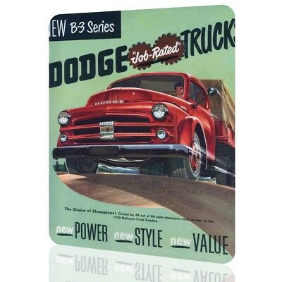 METAL SIGN Dodge Truck B3 Classic Drivers Garage Decor Vintage Cars Wall Pub