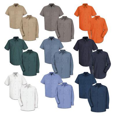 100% Cotton Uniform (Red Kap Work Shirt 100% Cotton 2 Pocket Men's Durable Industrial Uniform )