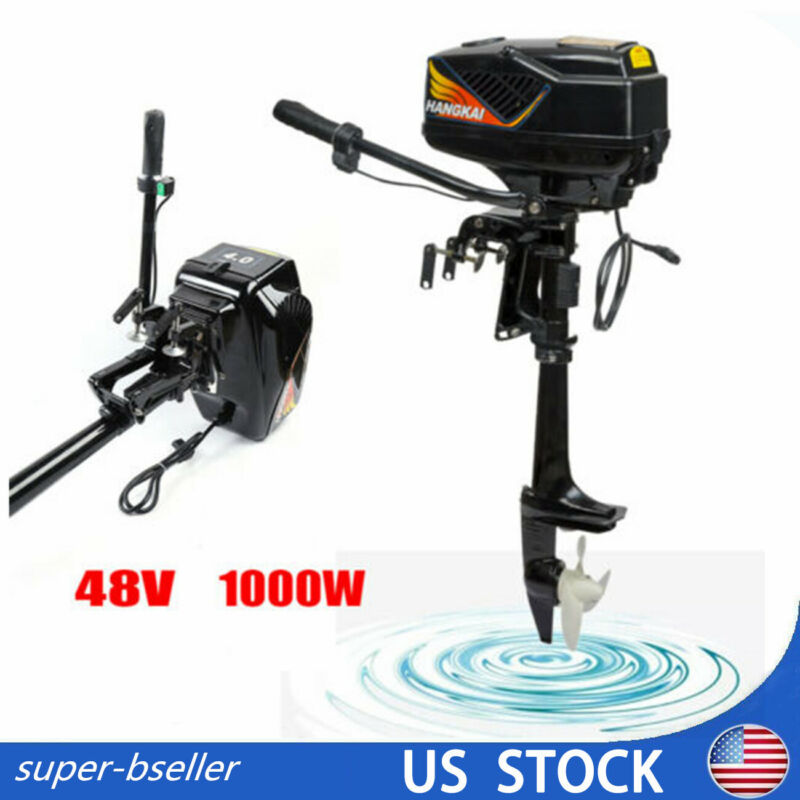 48V 4.0JET PUMP 1000W Electric Outboard Motor Inflatable Boat Engine Heavy Duty