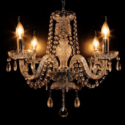 Elegant Crystal Chandelier Modern Ceiling Light 4 Lamp Penda