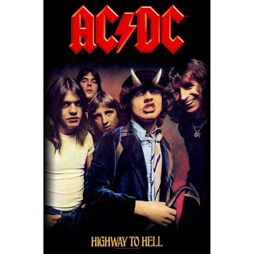 "AC/DC Highway to Hell Fabric Textile Poster Flag Banner 26.5"" X 40"""