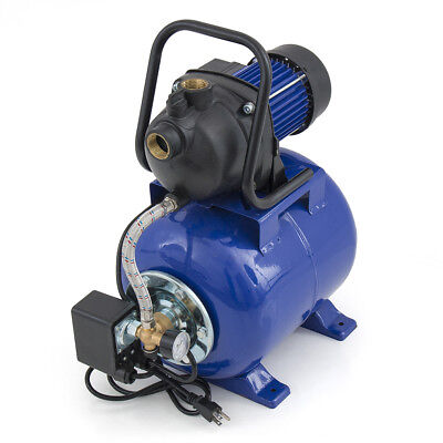 "1.6HP 1"" Shallow Jet Water Well Pump w/ Tank Pressure Pressurized 1000GPH 115V"