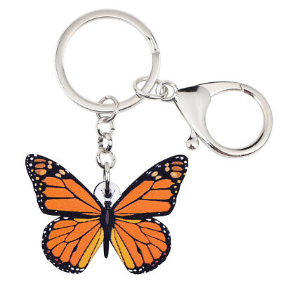 Acrylic Monarch Butterfly Keychain Key Ring Decor Jewelry For Women Wallet Gifts