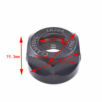 1pcs Er20 A Type Collet Clamping Nut For Milling Collet Chuck Holder Cnc