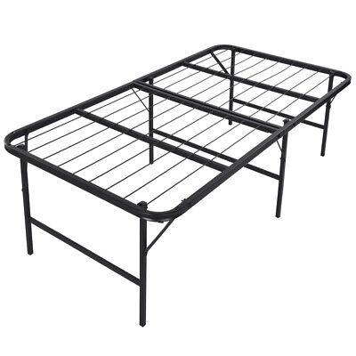 "Foldable Dais Bed Build and Mattress Basis 17"" inch Bi-Enwrap, Clone Immensity"