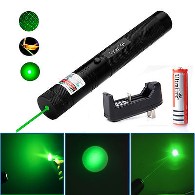 Military 532nm 5mw 303 Green Laser Pointer Lazer Pen Burning Beam +18650+Charger on Rummage