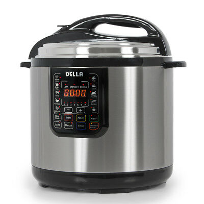1600 Watt Electrifying Pressure Cooker Multi-Functional Timer Slow Cook, 12-Quart