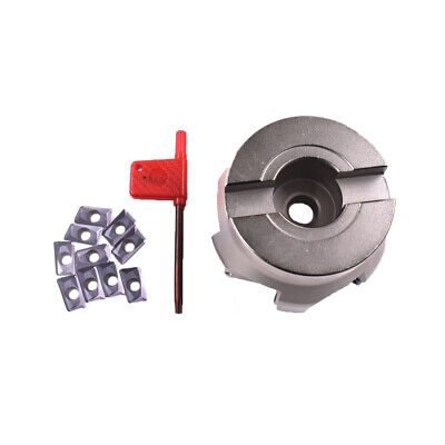 Aluminum(BAP400R-100-22-6F )indexable face milling cutter 6Flute FOR APKT1604