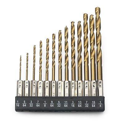 13pc Hex Shank Titanium Drill Bit Set MULTI BITS