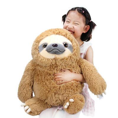 Fluffy Stuffed Animals (Winsterch Fluffy Giant Sloth Bear Stuffed Animal Toy Kids Brown,19.7)