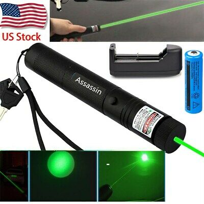 60miles 532nm 301 Green Laser Pointer Lazer Pen Beam Light Visible18650charger